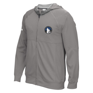 adidas Timberwolves Authentic On-Court Pre-Game Full-Zip Hooded Jacket