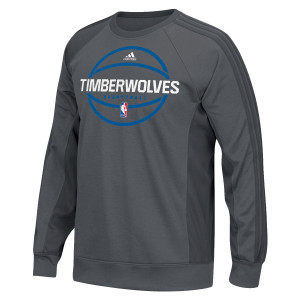 adidas Timberwolves Authentic On-Court Pre-Game Graphic Crew Neck Sweater
