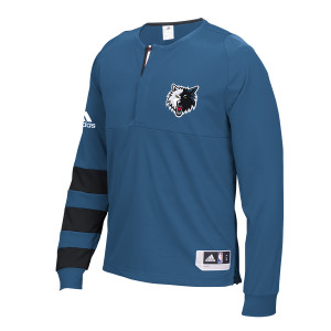 adidas Timberwolves Authentic On-Court L/S Shooter Shirt