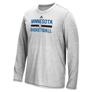 adidas Timberwolves Authentic On-Court L/S Practice T-Shirt