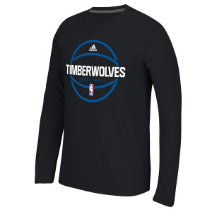 adidas Timberwolves Ultimate Performance L/S Practice T-Shirt