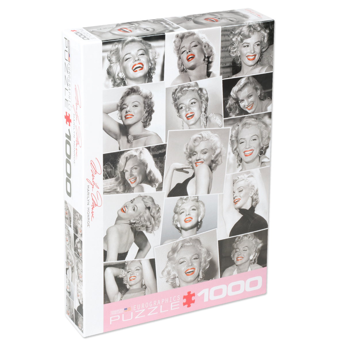 Marilyn Monroe Red Lips 1000pc puzzle