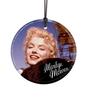Marilyn Monroe Bus Stop Movie Set Hanging Glass Ornament