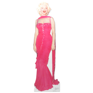 Marilyn Monroe Pink Dress Lifesize Stand Up