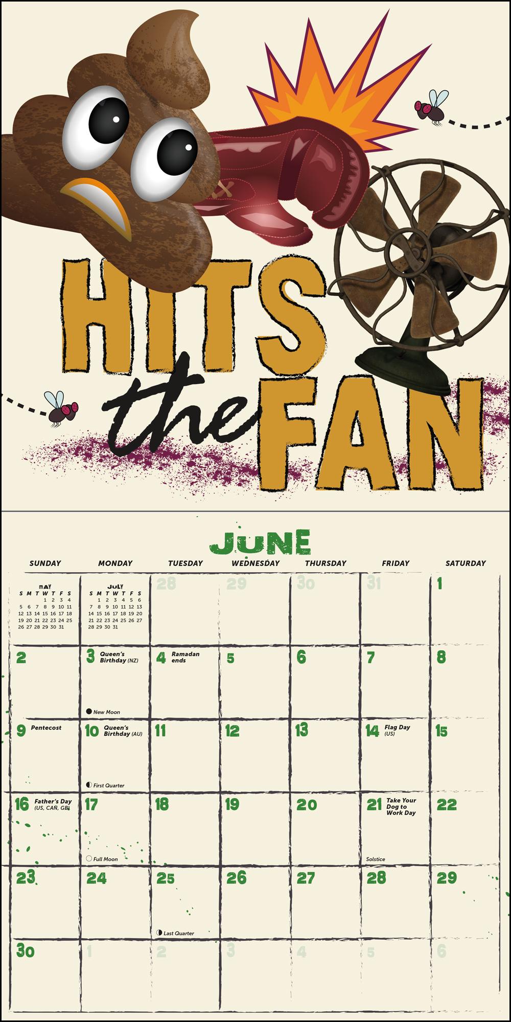 """Cool as Sh!t 7"""" x 7"""" Mini Calendar"""