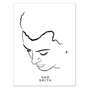 Sam Smith Portrait Litho