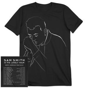 Sam Smith Illustration 2015 US Tour T-Shirt