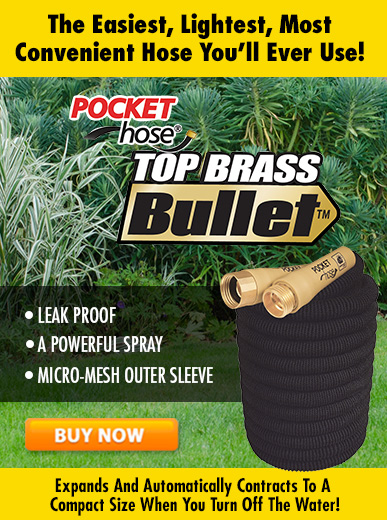Pocket Hose Brass Bullet