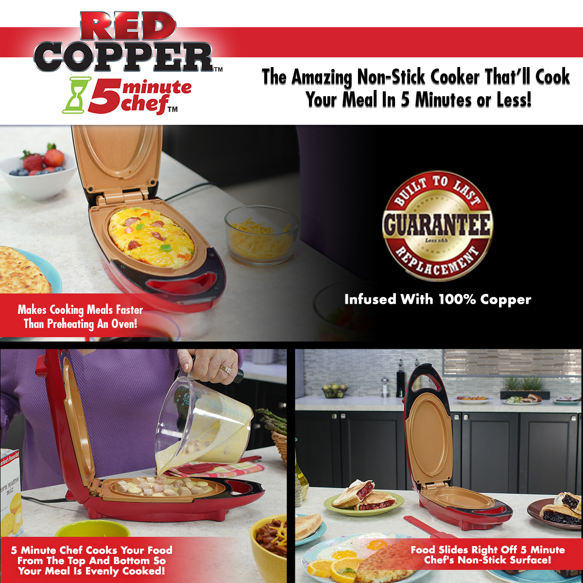Red Copper 5 Minute Chef Shop The As Seen On Tv Official Store