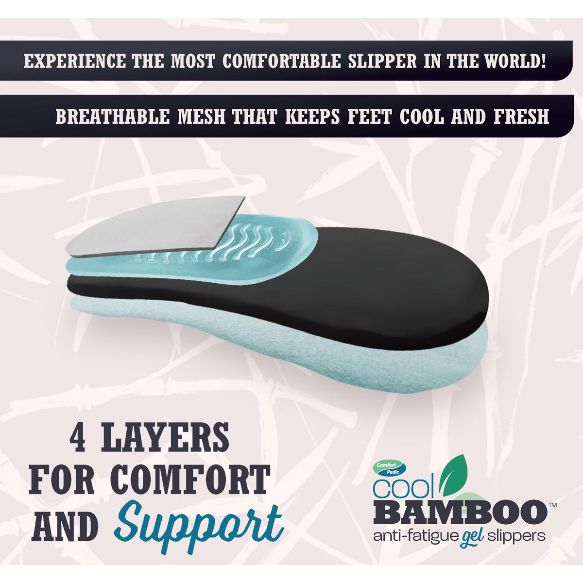 Cool Bamboo Anti-Fatigue Gel Slippers