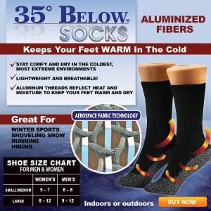 35 Below Socks