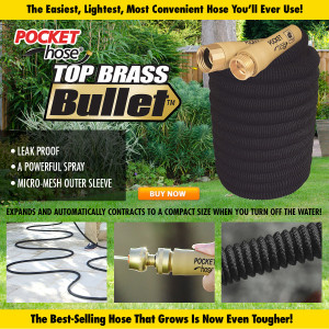 Pocket Hose Brass Bullet