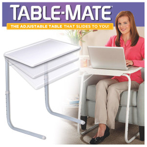 Table-Mate - Adjustable Table That Slides To You!