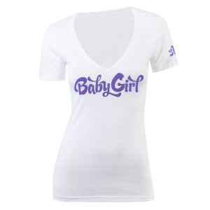 Baby Girl V-Neck T-Shirt - White