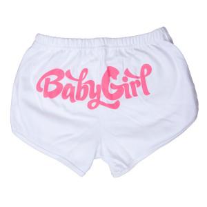 Baby Girl Booty Shorts - White