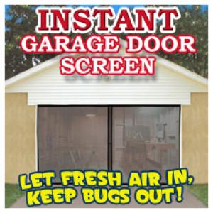 Instant Garage Door Screen [Single]
