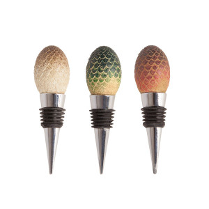 Game of Thrones Dragon Egg Wine Stoppers (Set of 3)