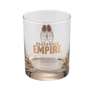 Boardwalk Empire Oxford Amber Luster Rocks Glass