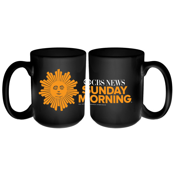 cbs news sunday morning logo mug shop the cbs official store
