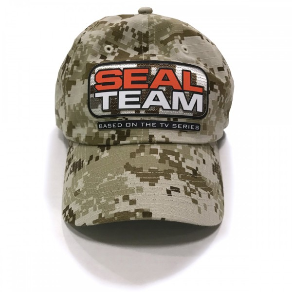 9f082ca464e55 SEAL Team Camo Logo Baseball Hat