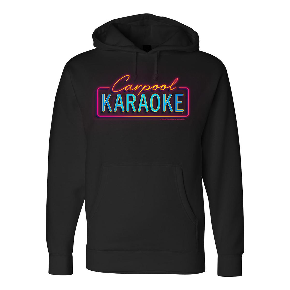 The Late Late Show with James Corden Carpool Karaoke Neon Logo Hoodie