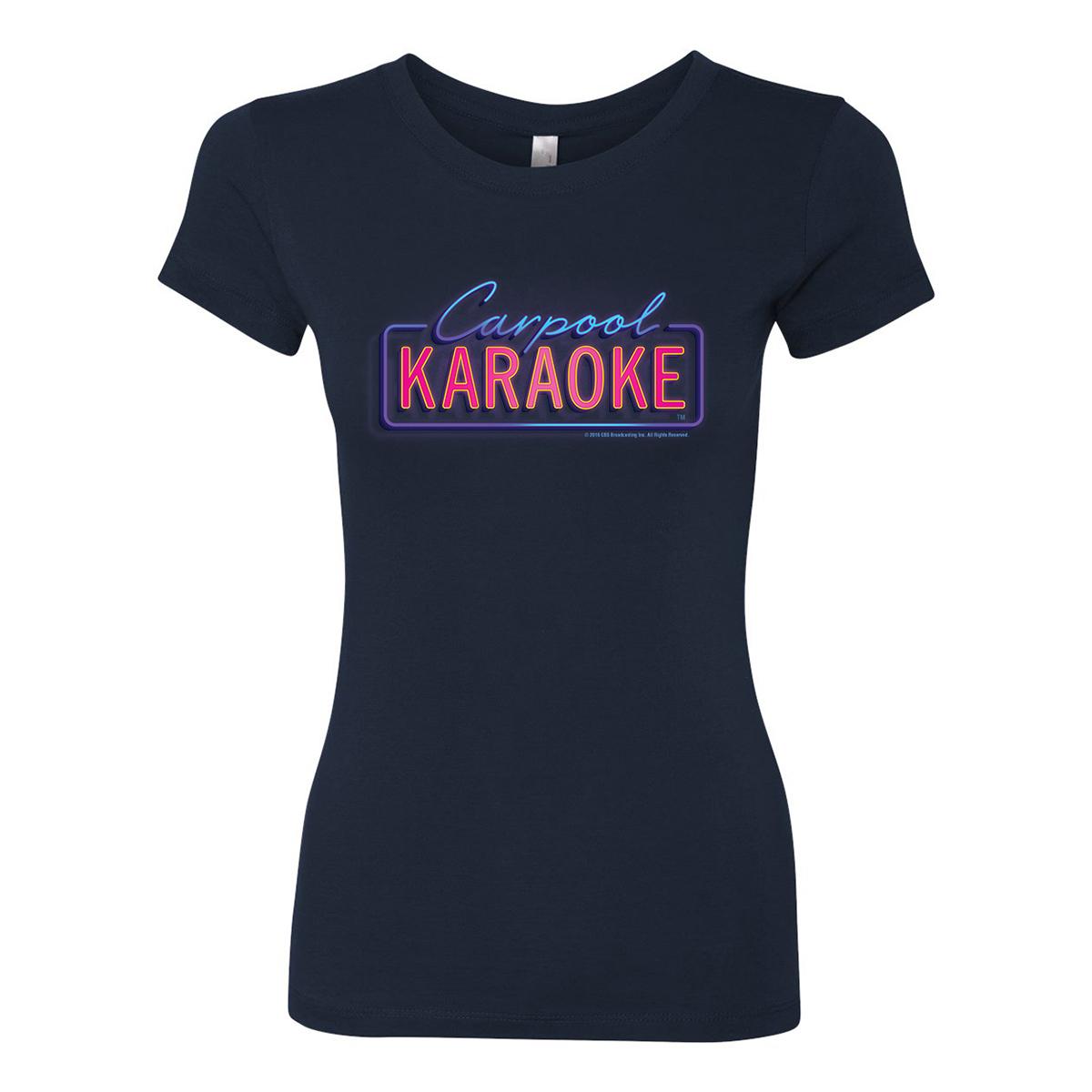 James Corden Carpool Karaoke Neon Logo Women's T-Shirt