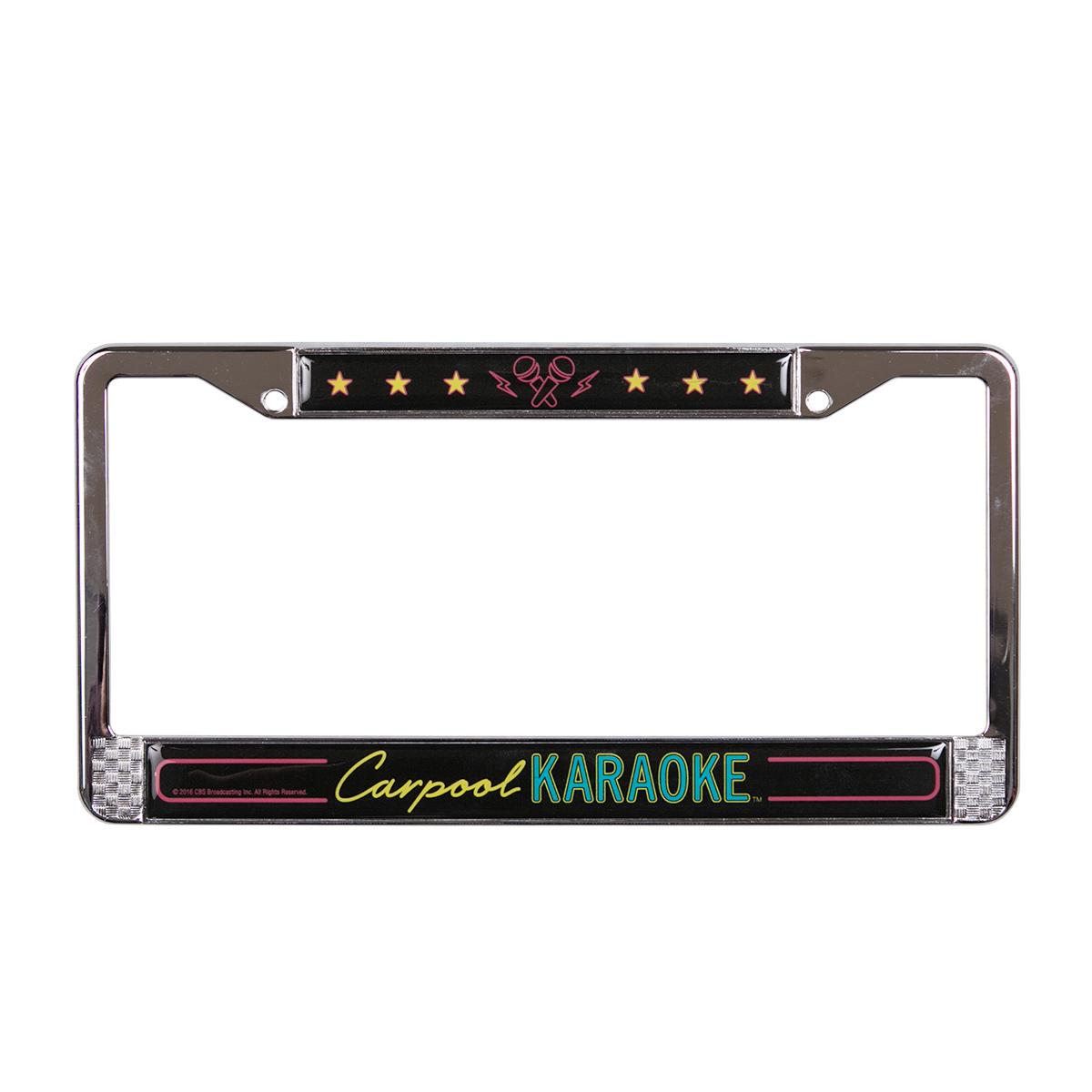 The Late Late Show with James Cordon Carpool Karaoke License Plate Fram