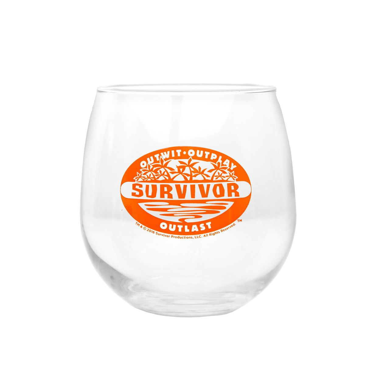Survivor Stemless Wine Glass