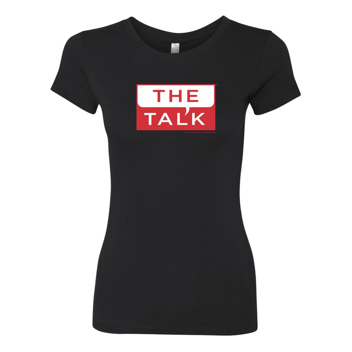 The Talk Logo Womens Slim Fit T-Shirt [Black]