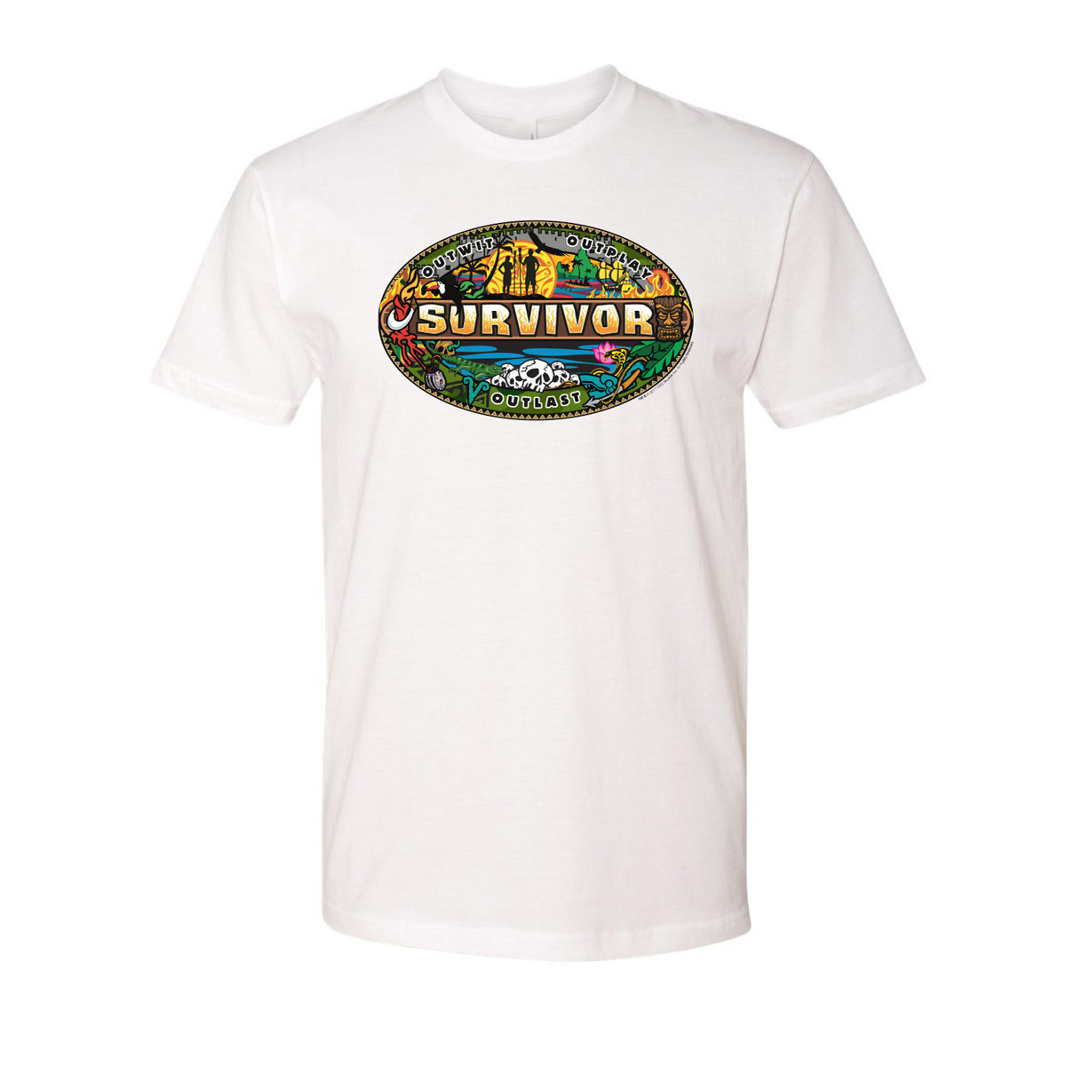 Survivor Mash-Up T-Shirt (White)
