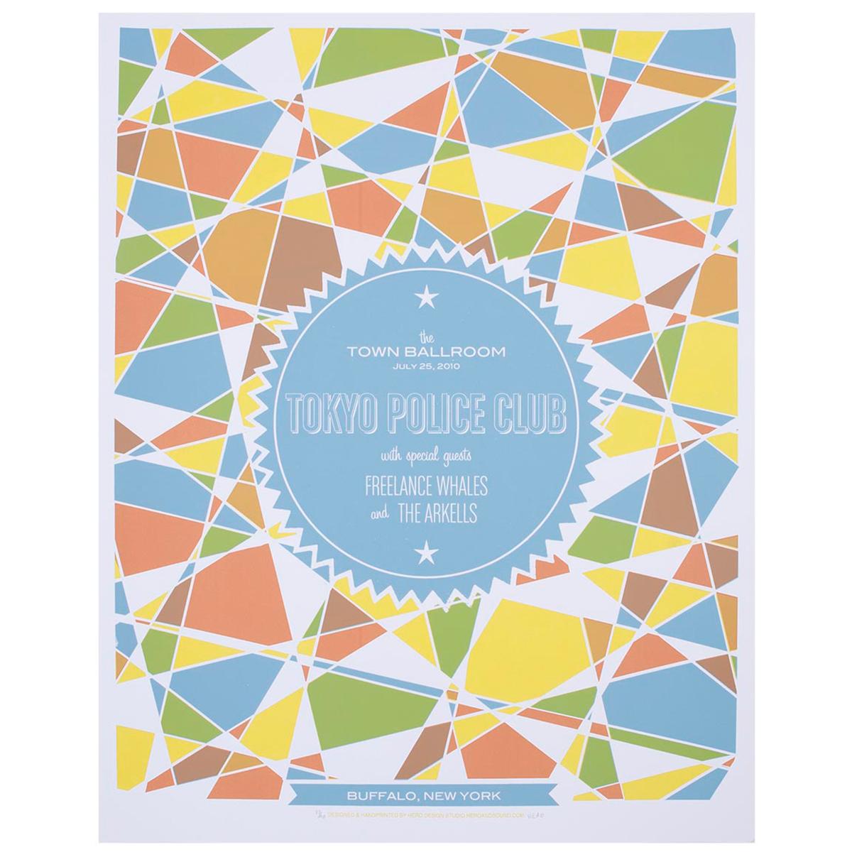 Tokyo Police Club Gig Printed Poster