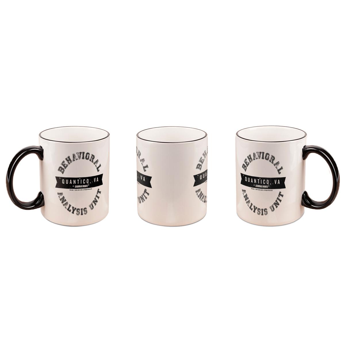 Criminal Minds BAU Black Rim Mug