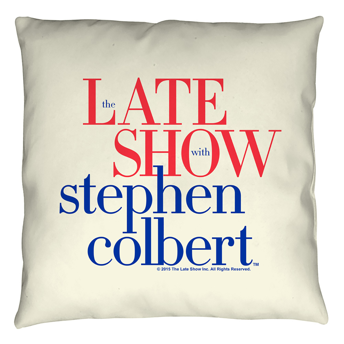 The Late Show With Stephen Colbert Logo Pillow