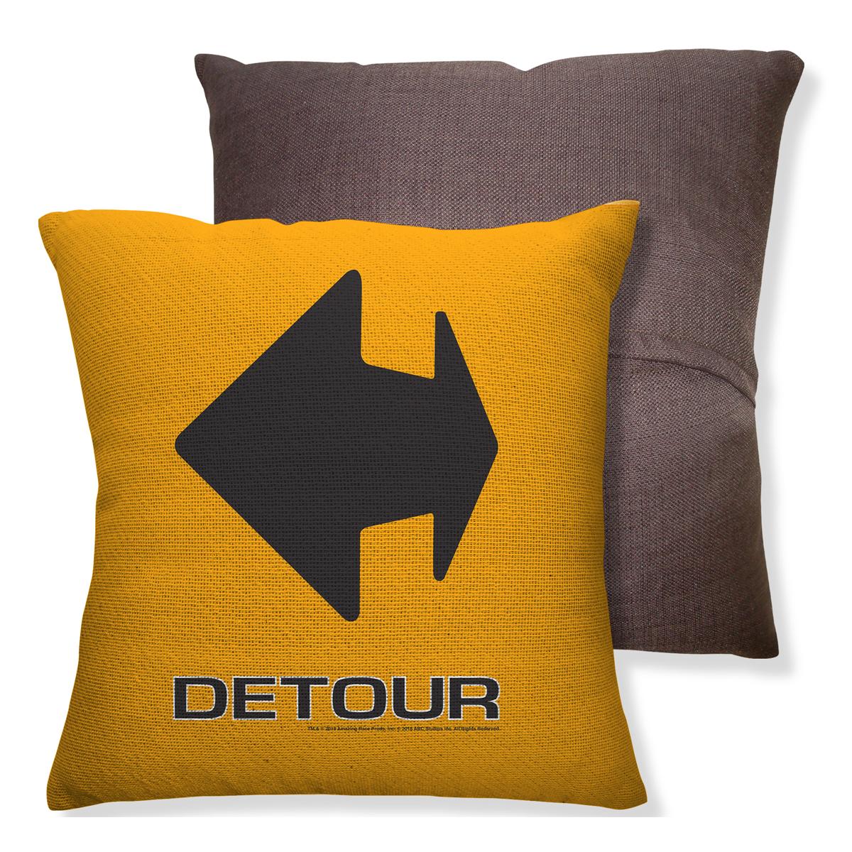 Amazing Race Detour Throw Pillow