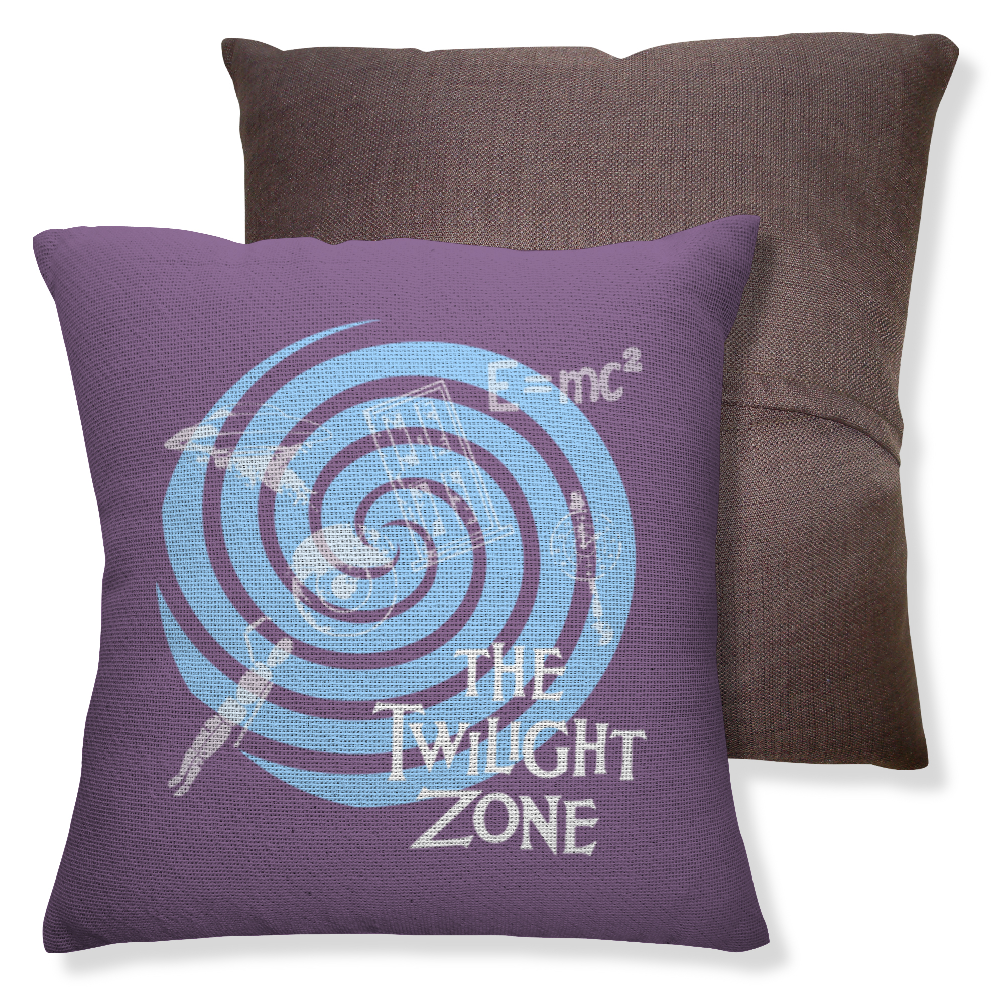 The Twilight Zone Spiral Throw Pillow