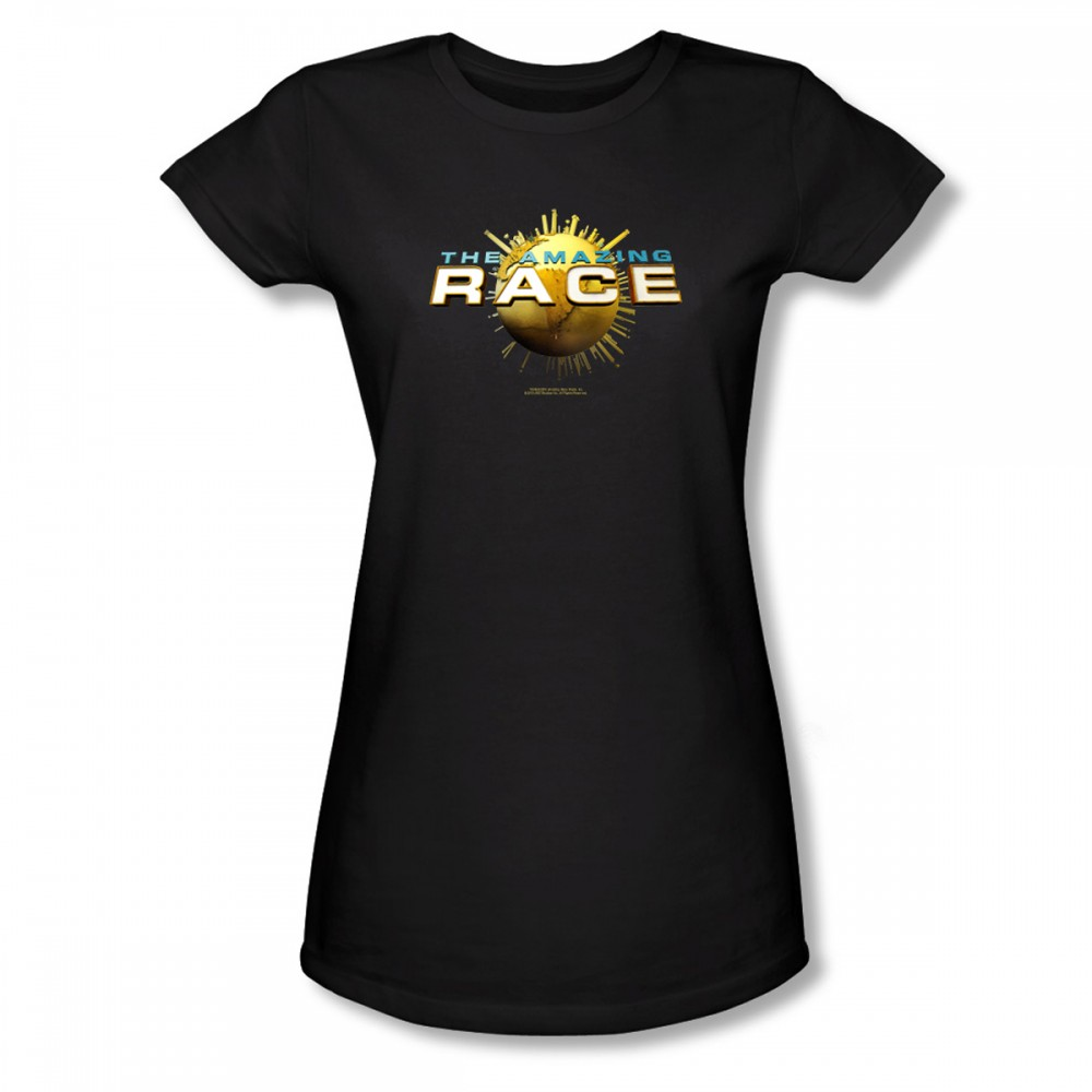 The Amazing Race Logo Women's Slim Fit T-Shirt - Black
