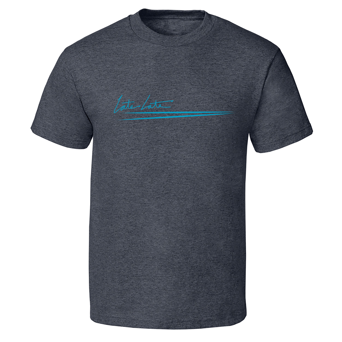 The Late Late Show with James Corden Late Late Small Logo T-Shirt (Blue)