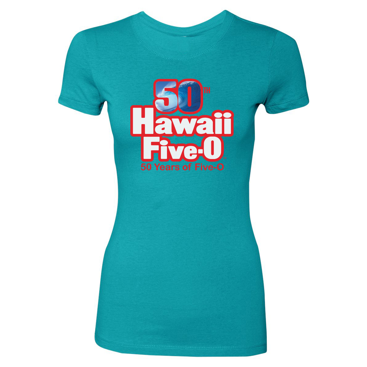 Hawaii Five-0 50th Anniversary Women's T-Shirt (Tahiti Blue)