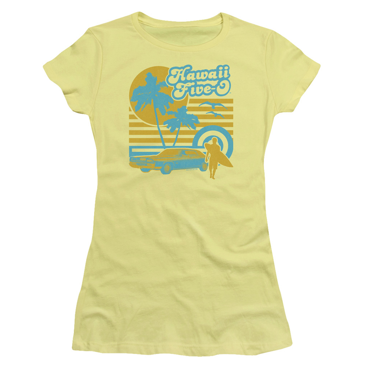 Hawaii Five-0 Surfer Women's Slim Fit T-Shirt