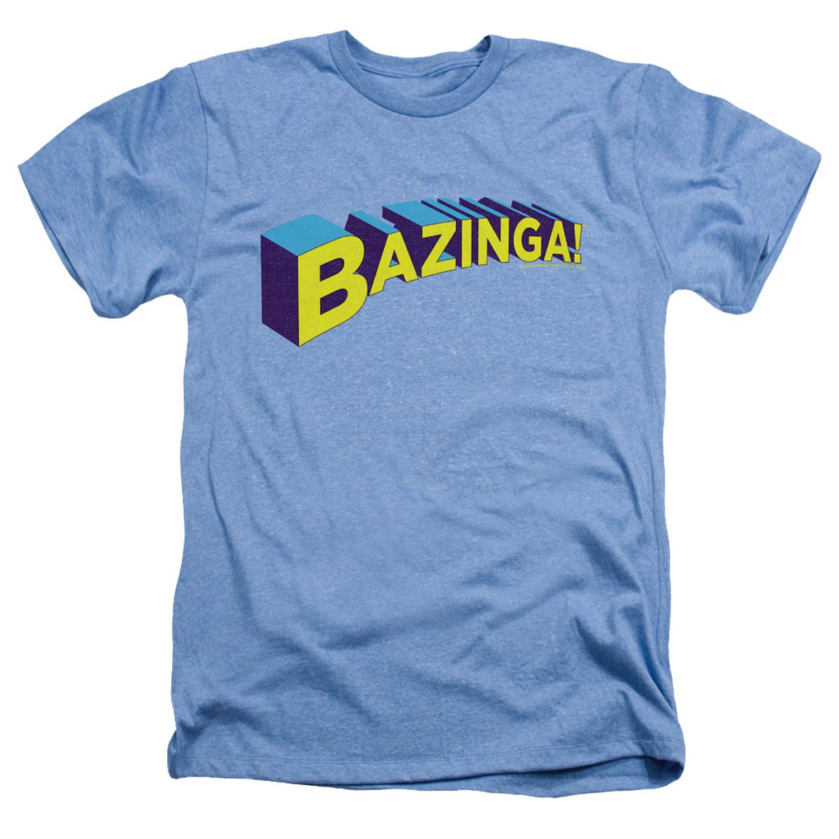 The Big Bang Theory Bazinga T-Shirt (Light Blue)