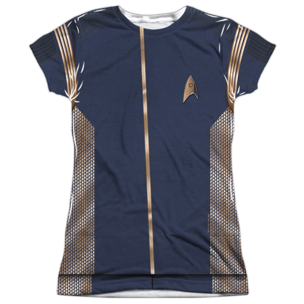 Star Trek Discovery Operations Uniform Costume Junior Slim Fit T-Shirt