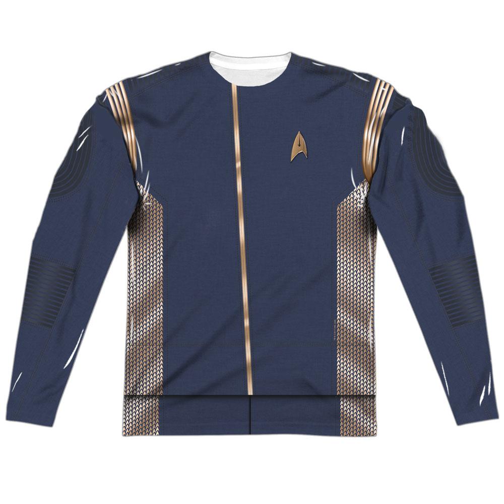 Star Trek Discovery Command Uniform Costume Long Sleeve T-Shirt