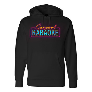 The Late Late Show with James Corden Carpool Karaoke Neon Logo Hoodie