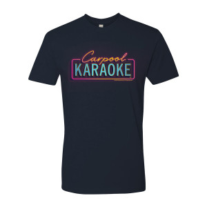 James Corden Carpool Karaoke Neon Logo T-Shirt