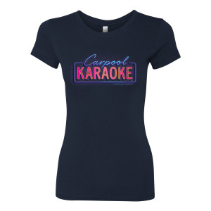 James Corden Carpool Karaoke Neon Logo Women's T-Shirt