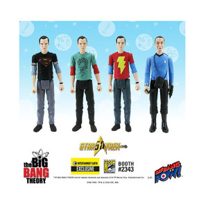 The Big Bang Theory TOS 3 3 /4-Inch Figures Case Set - Con Excl.