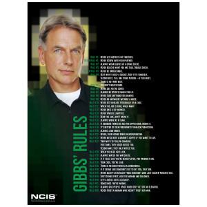NCIS Gibbs' Rules Giclee Print Poster [18x24]