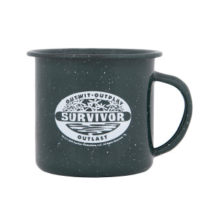 Survivor Outwit Outplay Outlast Enamel Mug