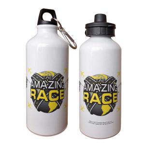 The Amazing Race Logo Water Bottle [White]