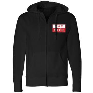 The Talk Logo Zip Up Hoodie [Black]